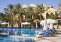 Swimming pool. Egypt. Royalty Free Stock Photo