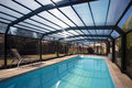 Swimming Pool Enclosure Royalty Free Stock Photo