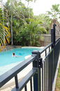 Swimming pool fence Royalty Free Stock Photo