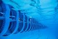 Swimming Pool Floating Wave-Breaking Lane Line Royalty Free Stock Photo