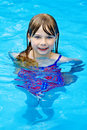 Swimming pool girl Stock Photo