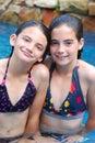 Swimming Pool Girls Royalty Free Stock Image