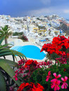 Swimming Pool in Greece. Royalty Free Stock Photos