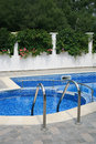 Swimming pool in a holiday villa Stock Photo