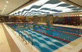 Swimming pool in hotel. Stock Image