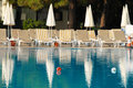 Swimming pool in hotel resort Royalty Free Stock Photo