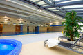 Swimming pool interior Stock Photo