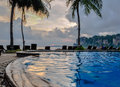 Swimming pool on krabi railay beach thailand asia Stock Photography