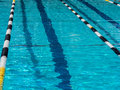 Swimming pool lane in outdoor Stock Photo