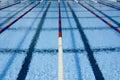 Plávanie bazén pruhy