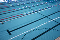 Swimming pool lanes olympic athletic or olympics racing tracks Royalty Free Stock Image