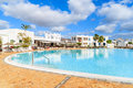 Swimming pool of luxury apartment complex Royalty Free Stock Photo