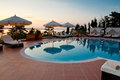 Swimming pool of luxury hotel Royalty Free Stock Photo