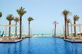 Swimming pool of the luxury hotel Royalty Free Stock Images