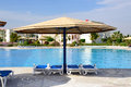 Swimming pool luxury hotel hurghada egypt Royalty Free Stock Photos