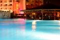 Swimming pool luxury hotel night illumination hurghada egypt Royalty Free Stock Photography