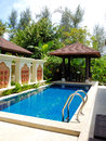 Swimming pool at the luxury villa Stock Images