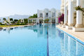 Swimming pool at luxury villa bodrum turkey Stock Image
