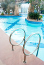 Swimming pool in morning beauty Stock Images
