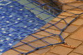 Swimming pool net Stock Image