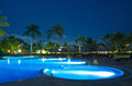 Swimming pool night illumination Stock Photos