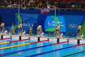 Swimming pool at Olympic Aquatics Stadium Royalty Free Stock Photo