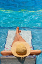 Swimming pool relax Stock Photography