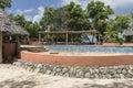 Swimming pool Resort Hotel on Prison Island Royalty Free Stock Photo