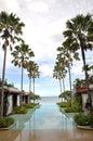 Swimming Pool Resort Sea Palm Tree Royalty Free Stock Photo