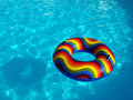 Swimming pool with rubber ring Royalty Free Stock Photography
