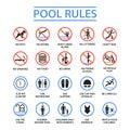 Swimming pool rules