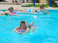 Swimming pool in sharm el sheikh egypt nov happy people enjoying bath time infinity Royalty Free Stock Photos