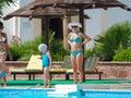 Swimming pool in sharm el sheikh egypt nov happy people enjoying bath time infinity Royalty Free Stock Photo