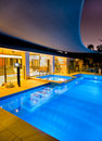 Swimming pool and spa Royalty Free Stock Photo