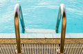 Swimming pool with stair in city Royalty Free Stock Images