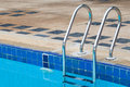 Swimming pool stair Royalty Free Stock Photo