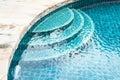 Swimming pool step Royalty Free Stock Photo