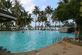 Swimming pool on sun island the maldives Stock Photography