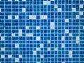 Swimming pool tiles blue and white Stock Photos