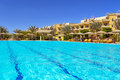 Swimming pool at tropical resort in hurghada egypt Royalty Free Stock Photography