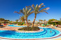 Swimming pool at tropical resort in hurghada egypt three corners sunny beach on april three corners is belgian company with hotels Stock Image