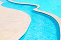 Swimming pool in the tropics Stock Photo