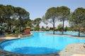 Swimming pool at Turkish hotel Royalty Free Stock Photo