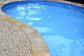 Swimming pool the view of with blue water Stock Images