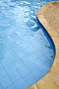 Swimming pool the view of with blue water Royalty Free Stock Image