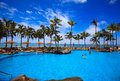Swimming pool on Waikiki beach, Hawaii Royalty Free Stock Photo
