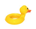 Swimming ring in shape of duck with clipping path