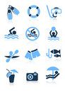 Swimming sport icons Royalty Free Stock Images