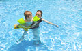 Swimming Together Royalty Free Stock Photos