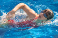 Swimming Woman Stock Photos